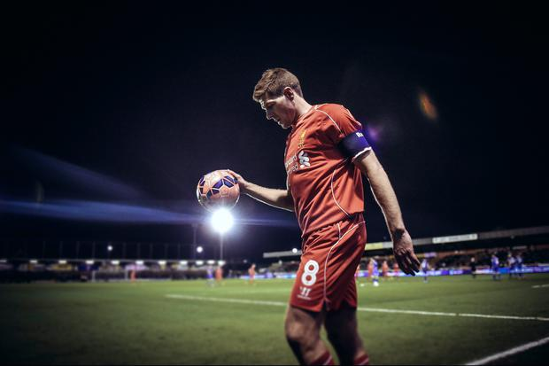 Steven Gerrard was at the centre of all that was good about Liverpool's performance against Wimbledon.