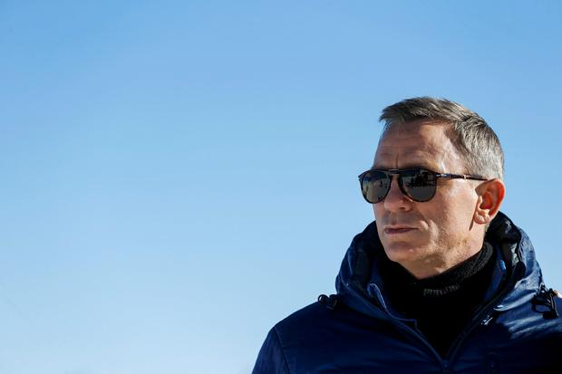 Actor Daniel Craig poses during a photocall to promote the new James Bond film