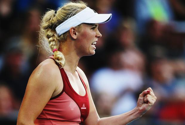Wozniacki had to battle back from a 5-2 deficit in the second set to overcome American teenager Taylor Townsend.