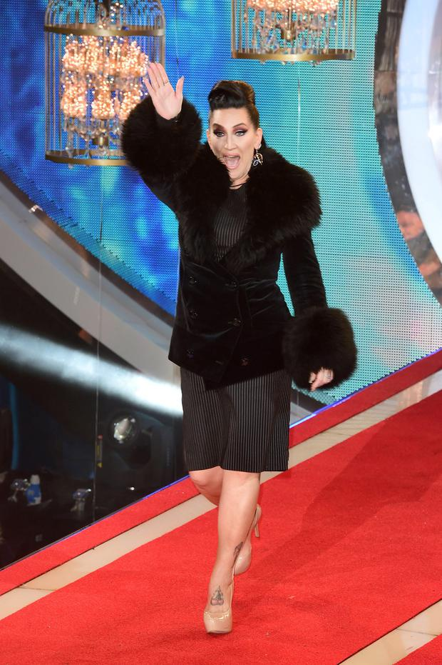Michelle Visage entering the Celebrity Big Brother house at the start of the latest series of the Channel 5 programme at Elstree Studios, Borehamwood. PRESS ASSOCIATION Photo. Picture date: Wednesday January 7, 2015. Photo credit should read: Ian West/PA Wire