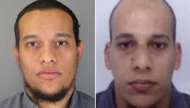 Manhunt continues for brothers Said Kouachi (left) and Cherif Kouachi