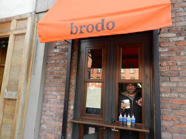 Brodo in Manhattan's East Village is churning out cups and cups of bone broth each day as the fad takes over New York.
