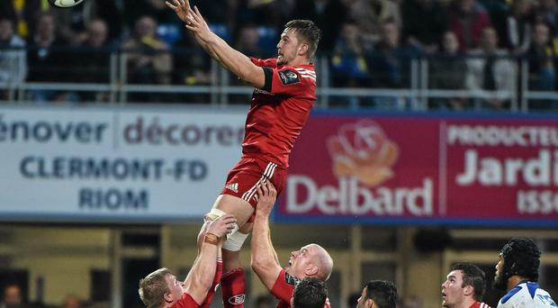 Dave Foley, here being lifted in the lineout by team-mate Paul O'Connell, is keen to impress Joe Schmidt