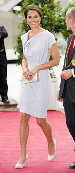 July 2012: Her lilac Roksanda Illincic dress was the perfect summer number.