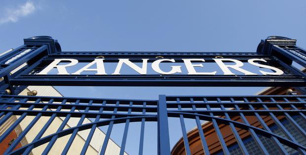 The Ibrox Stadium, in Glasgow, home of Rangers FC