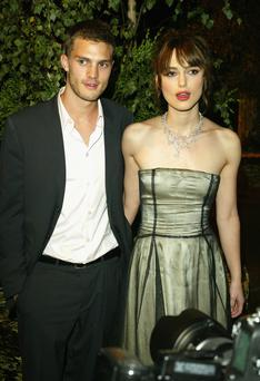 Actress Keira Knightley and ex boyfriend Jamie Dornan pictured in 2004