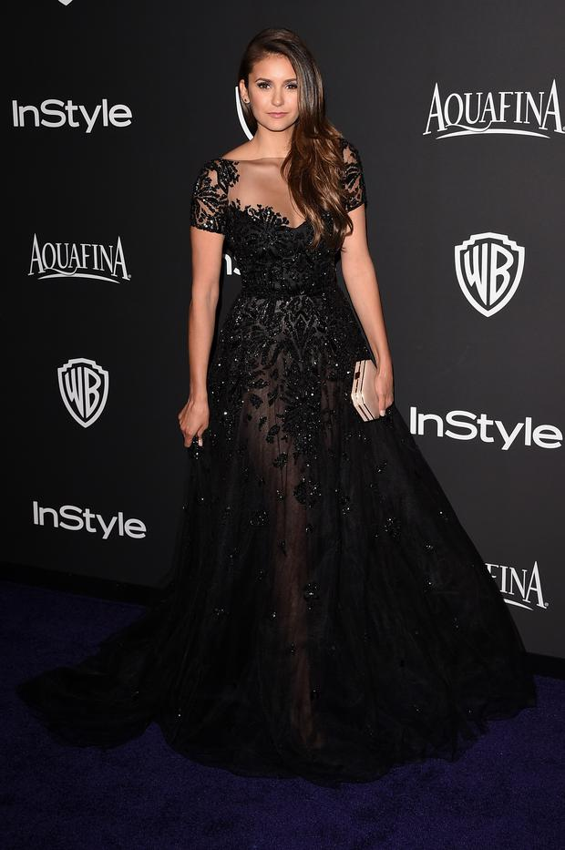 Nina Dobrev attend the 2015 InStyle And Warner Bros. 72nd Annual Golden Globe Awards Post-Party at The Beverly Hilton Hotel