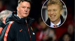 Louis van Gaal's record so far is the same as David Moyes'