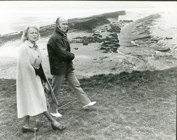 President Patrick Hillery with his wife Maeve.
