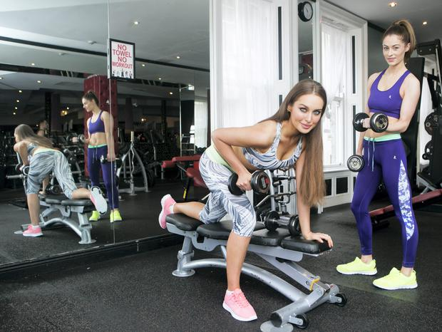 Super fit model Roz Purcell and Model Madeline Mulqueen wearing Penneys workout gear