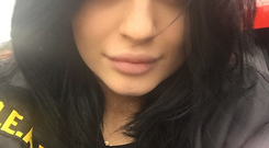 Kylie Jenner posted this makeup free selfie on Instagram