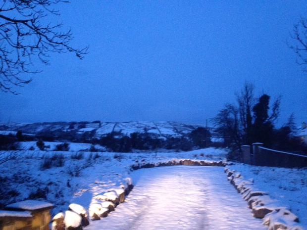 Snow scene at Kiltimagh, Co Mayo (Picture: Louise O'Hora)