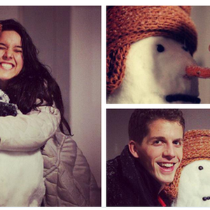 Sent in by Marnie ‏@MarnieRVL on Twitter using #indosubmit - '#snowmanselfie hope you like our snowman!'