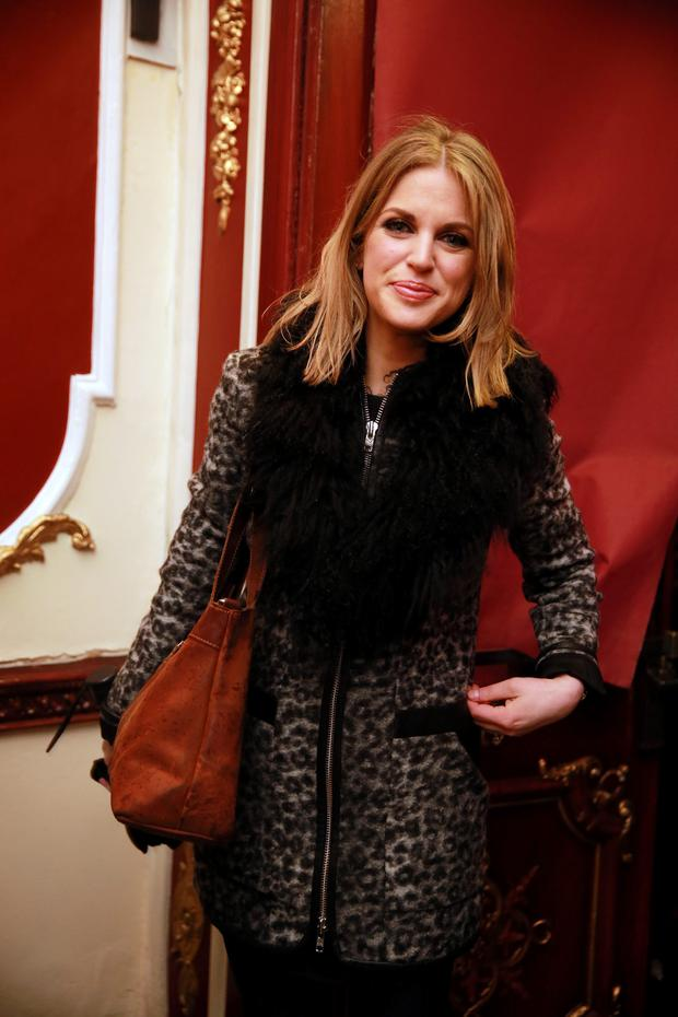 14/1/15 Amy Huberman at the opening night of The Walworth Farce at the Olympia Theatre. .Picture:Arthur Carron