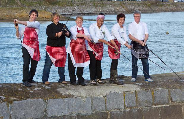 Local chefs, including Eunice Power and Paul Flynn (far right) photographed at the launch of a recent Waterford Festival of Food. Photo: Dylan Vaughan