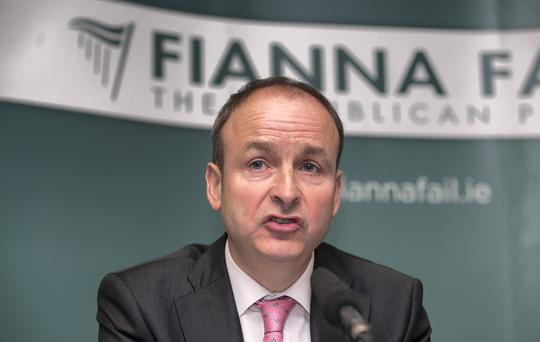 The core problem for Micheál Martin is that the old party mantra of more or less being all things to all people simply doesn't work any more. Photo: Gareth Chaney Collins