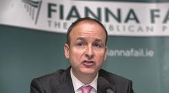 Fianna Fail leader Micheal Martin TD. Photo: Gareth Chaney Collins