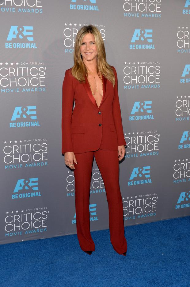 Actress Jennifer Aniston attends the 20th annual Critics' Choice Movie Awards at the Hollywood Palladium