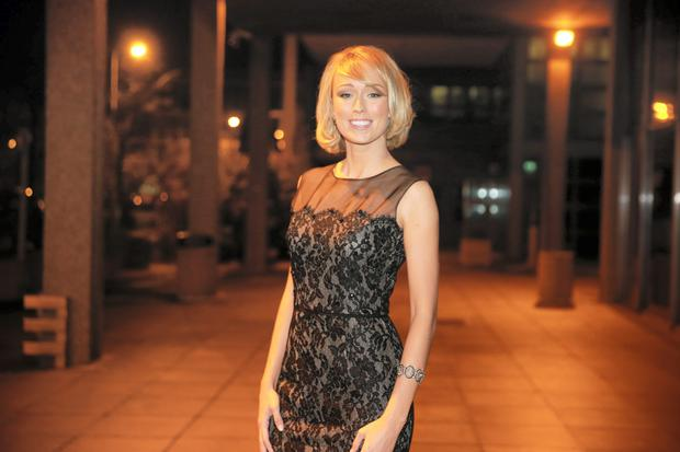 Footballer Stephanie Roche at RTE's Late Late Show coming second in the Puskas Awards for best goal of 2014. Picture: Arthur Carron