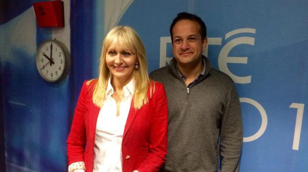 Leo Varadkar with RTE broadcaster Miriam O'Callaghan