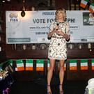 Stephanie Roche at her homecoming party at Brady's Pub, Shankill, Co. Dublin
