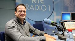 Minister for Health Leo Varadkar in RTE studios with Miriam O'Callaghan after he came publicly as gay on the show. Maxpix/Julien Behal