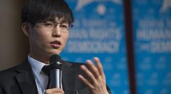 North Korean defector Shin Dong-hyuk (AP Photo/Keystone, Jean-Christophe Bott, File)