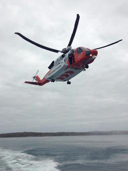 The S92 Irish Coast Guard rescue helicopter