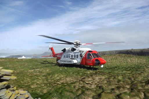 The S92 Irish Coast Guard rescue helicopter. Images from the Department of Transport, Tourism and Sport