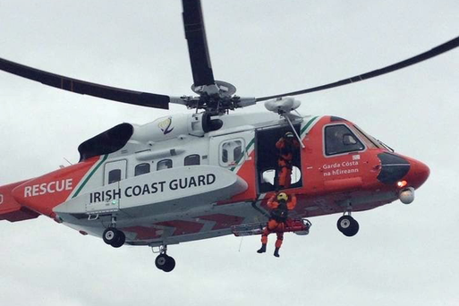 The Irish Coast Guard rescue helicopter.
