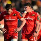 Dejected Munster captain Peter O'Mahony leads his side from the pitch after their defeat to Saracens