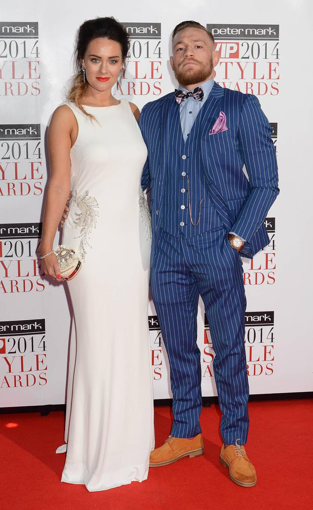 Conor McGregor and girlfriend Dee Devlin at the VIP Style Awards 2014 at The Marker Hotel