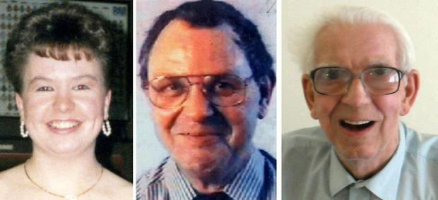Greater Manchester Police images of (left to right) Tracey Arden, 44, Arnold Lancaster, 71, and Alfred Derek Weaver, 83. Nurse Victorino Chua, 49, went on trial accused of murdering and poisoning the hospital patients at Stepping Hill Hospital in Stockport. Photo: Greater Manchester Police/PA