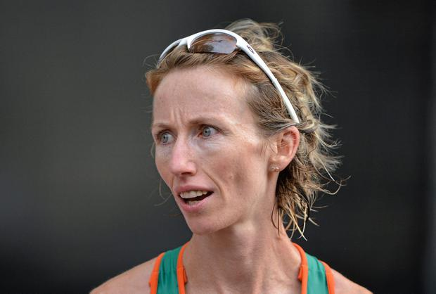 Ireland's Olive Loughnane says she 'was always particularly proud of my performance' in the 2009 world 20km final in Berlin. Photo: Brendan Moran / SPORTSFILE