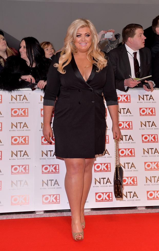Gemma Collins attends the National Television Awards at 02 Arena