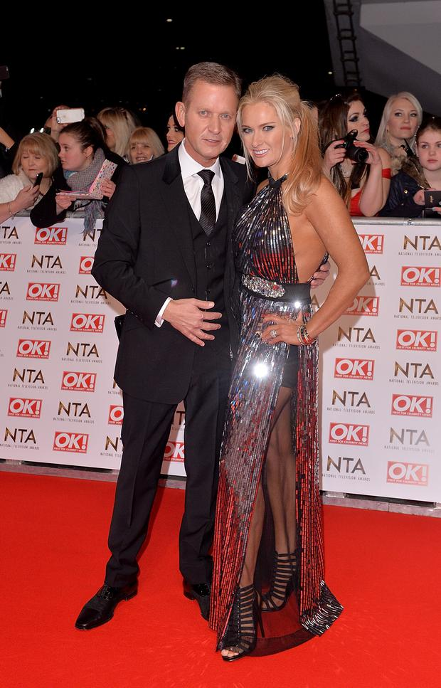 Jeremy Kyle and Carla Germaine attend the National Television Awards at 02 Arena