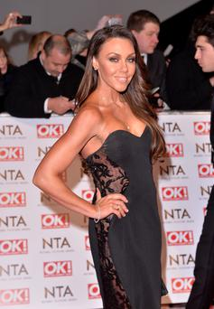 Michelle Heaton attends the National Television Awards at 02 Arena