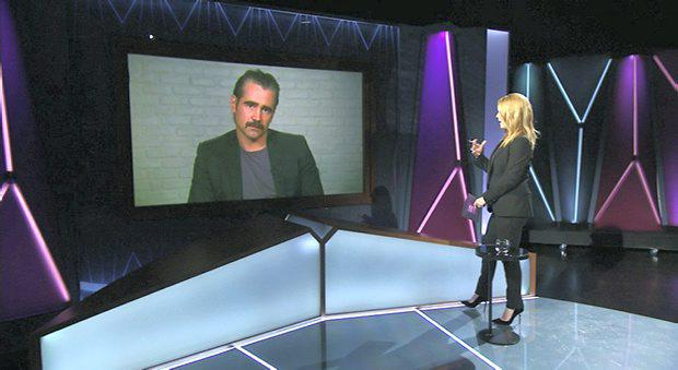 Presenter Claire Byrne interviews Irish Actor Colin Farrell on the subject of marriage equality via satiellite link from LA