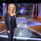 Claire Byrne on the set of her new show.