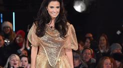 Katie Price enters the Big Brother House at Elstree Studios.
