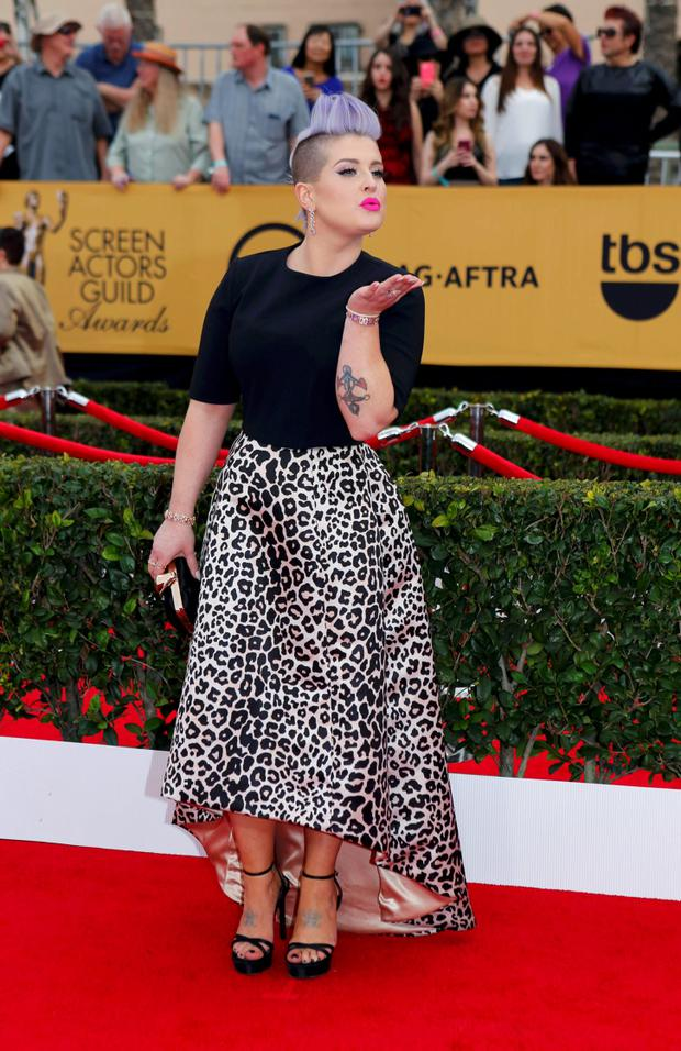 TV personality Kelly Osbourne arrives at the 21st annual Screen Actors Guild Awards