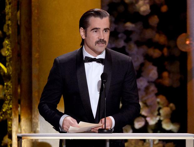 Actor Colin Farrell speaks onstage at the 21st Annual Screen Actors Guild Awards