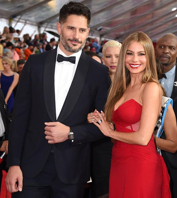 Sofia Vergara And Joe Manganiello Arrives At The 21st Annual Screen Actors Guild Awards