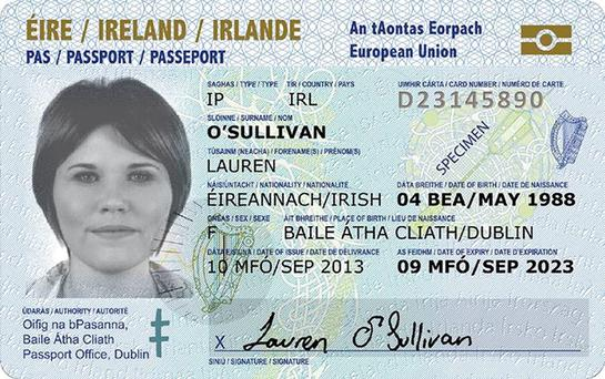The five year card will be available from September and will cost €35 Credit: Department of Foreign Affairs and Trade/PA Wire