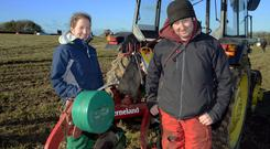 Pictured at the annual ploughing match at Clonakilty Co Cork was Siobhan Hennessy from Timoleague, taking part in the ladies class with Pascal Twomey. Picture Denis Boyle