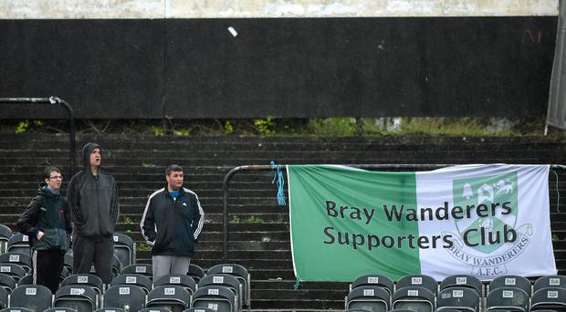 Should Bray Wanderers provide more detailed information on their proposed revenue streams for the forthcoming season by Monday's deadline, a re-drafted Premier Division licence application is expected to be successful. Photo: Paul Mohan / SPORTSFILE