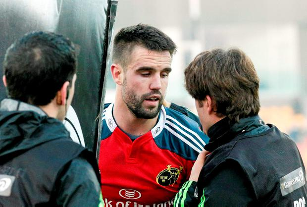 Conor Murray will have further scans this week on a neck injury which could rule him out of the start of Ireland's Six Nations campaign. Photo: Roberto Bregani / SPORTSFILE