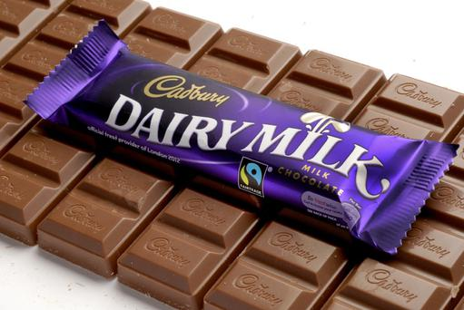 Cadburys Dairy Milk Chocolate Bars (Fair Trade) Supplied for non exclusive, editorial UK print, web and PR use only. Copyright-Tom Stockill-All Rights Reserved. (+44 (0)1753 862508 /+44 (0)7831 815511). Fees applicable. This image must not be syndicated or transferred to other systems or third parties, and storage or archiving is not permitted. Any unauthorised use or reproduction of this image will constitute a violation of copyright.