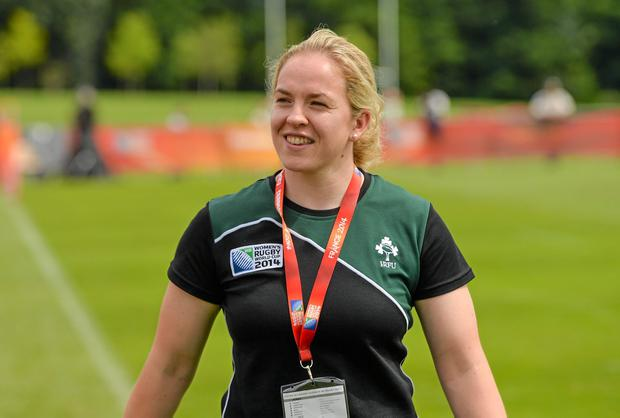 Niamh Briggs takes over the captaincy of the Ireland women's side from the retired Fiona Coghlan. Photo: Diarmuid Greene / SPORTSFILE