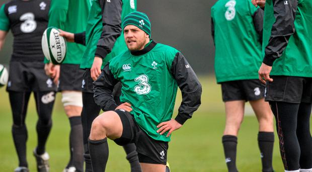 Ian Madigan, Ireland, during squad training. Ireland Rugby Squad Training, Carton House, Maynooth, Co. Kildare